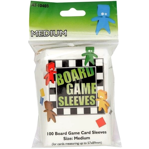 Board Games Sleeves - 100 Medium Size 57x89mm