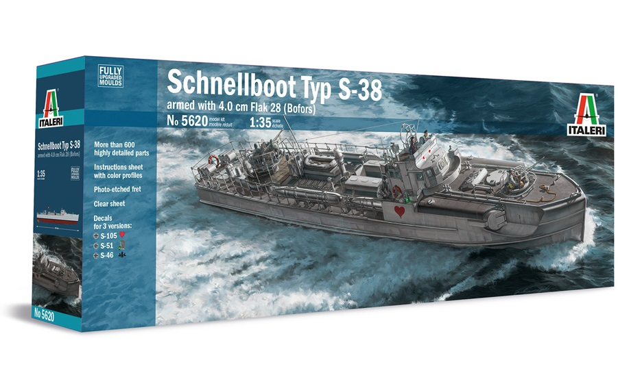 Schnellboot S-38 Armed with 4.0cm Flak 28 (Bofors) (1:35)