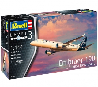 Embraer 190 Lufthansa New Livery (1:144)