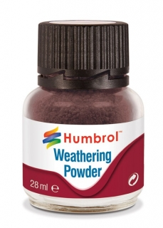 Humbrol Weathering Powder Dark Earth - efekt tmavé země 28ml