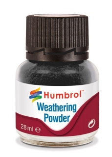 Humbrol Weathering Powder Black - černý efekt 28ml