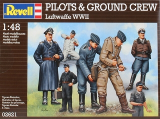 Pilots + Ground Crew German Luftwaffe WWII (1:48)