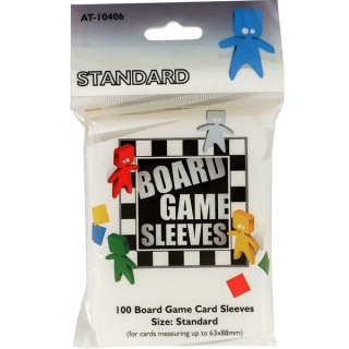 Board Games Sleeves - 100 Standard Size 63x88mm