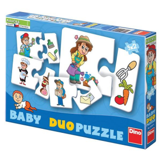 Profese - 9x2 baby puzzle
