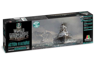 World of Warships German battleship Bismarck (1:700)
