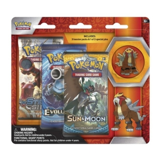 Pokémon: Legendary Beats Pin 3-pack - Entei