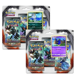 Pokémon: Pokémon: Sun & Moon - Burning Shadows 3 Pack Blister booster