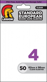 Legion - 50 Board Game Sleeve 4 - Standard European (62x96mm)