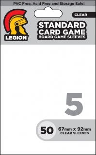 Legion - 50 Board Game Sleeve 5 - Standard Card Game (63x88mm)