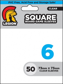 Legion - 50 Board Game Sleeve 6 - Square (73x73mm)