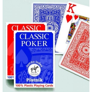 Poker 100% plastic Jumbo Index