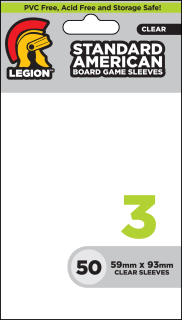 Legion - 50 Board Game Sleeve 3 - Standard American (59x93mm)