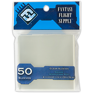 FFG 50 Clear Sleeves - Square